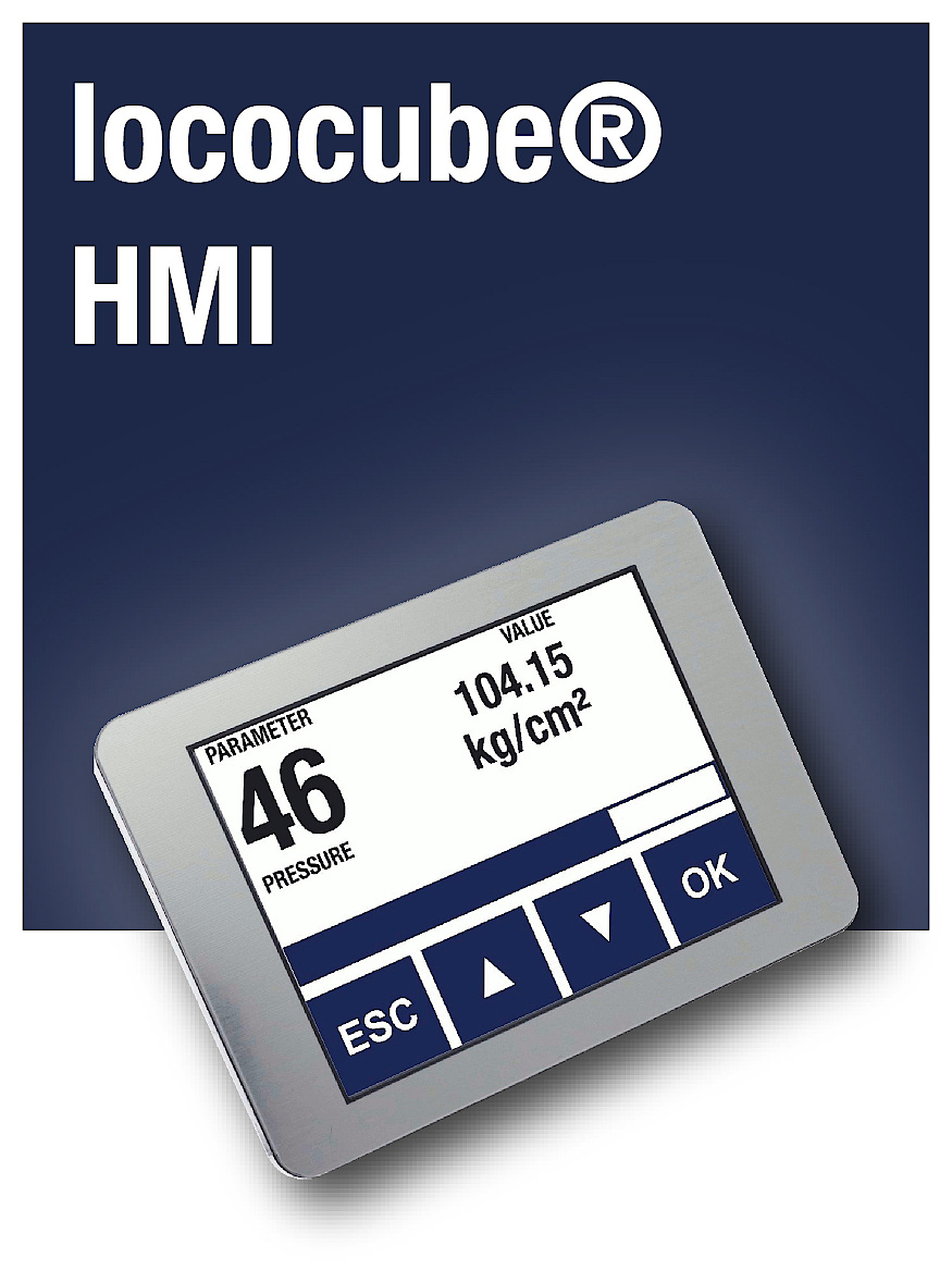 compact CAN Touch Displays for all lococube® mini-PLCs