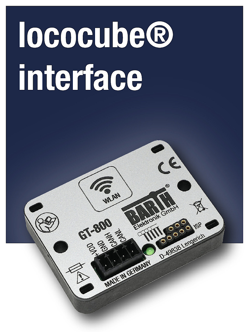 interface products for lococube® mini-PLCs, RS-232, RS-485, 1-Wire and CAN FD