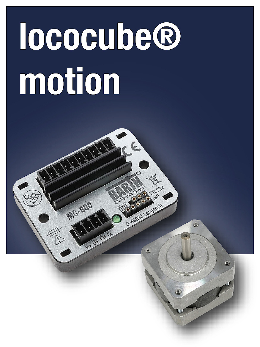 CAN stepper motor controller for all lococube® mini-PLCs